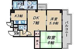 アヴィタシヨン東豊中[305号室]の間取り