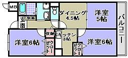 エスポアールパート3[206号室]の間取り
