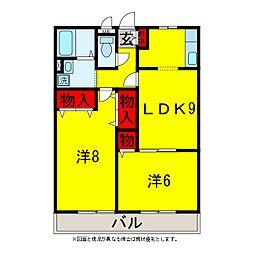 リビングタウン松ヶ島A・B[3階]の間取り
