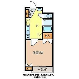 第3コーポシモダ[1階]の間取り