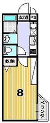 アークリード平野[3階]の間取り