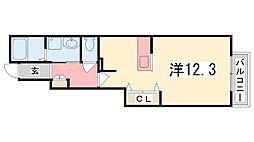 ソレイユ白浜北II[103号室]の間取り
