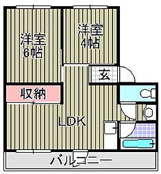 シティハイツ岸和田[1階]の間取り