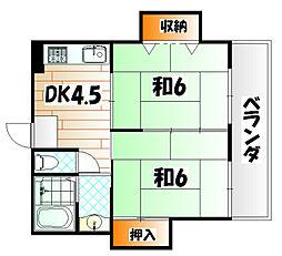シャトレ片野[3階]の間取り