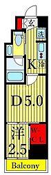 One ROOF Residence Kiba WEST 7階1DKの間取り