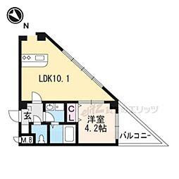JR東海道・山陽本線 茨木駅 徒歩14分の賃貸アパート 3階1LDKの間取り