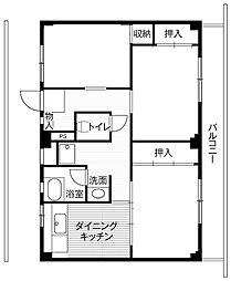 神奈川県横須賀市公郷町6丁目の賃貸マンションの間取り