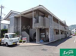 滋賀県大津市鏡が浜の賃貸アパートの外観