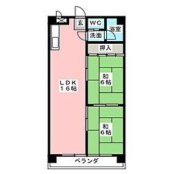 桜台ハイツ[3階]の間取り