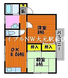 ペンテニューン[1階]の間取り