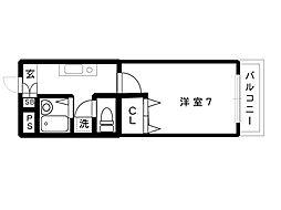 JR東海道本線 摂津本山駅 5階建[303号室]の間取り
