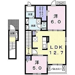 佐原ホアパートI[2階]の間取り