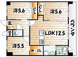 メディプラカーサ[12階]の間取り