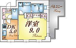 プレジール三ノ宮[7階]の間取り