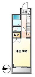 ヴァンヴェール名古屋[2階]の間取り