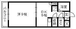 プレジデントヴィラ[B302号室]の間取り