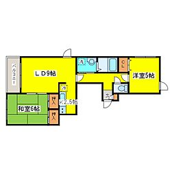 北海道札幌市東区北十六条東5丁目の賃貸マンションの間取り