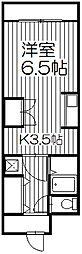 ルシエール[2階]の間取り