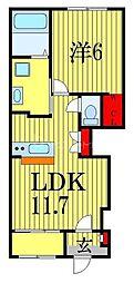 Arrietty 1階1LDKの間取り