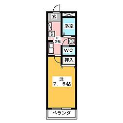 ノーブルメゾン[2階]の間取り