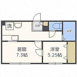 第3澄川銀座パレス[2階]の間取り