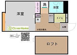 神奈川県横浜市瀬谷区北新の賃貸アパートの間取り