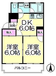 メゾンタナカIIB棟[2階]の間取り