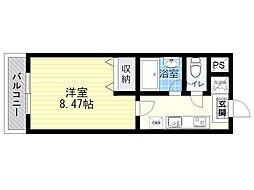 サンヒーローマンション亀川1[1階]の間取り