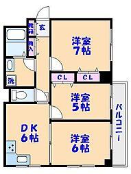 行徳イーストマンション[2階]の間取り