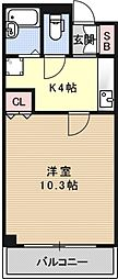 珠光松原ビル[402号室号室]の間取り