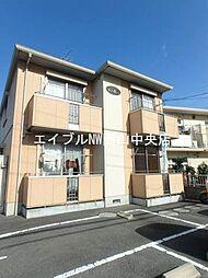 岡山県岡山市北区津島東2の賃貸アパートの外観
