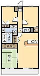 サーパス神宮北[77号室]の間取り