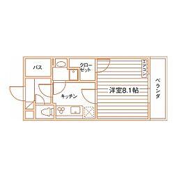 ドムス東静岡[2階]の間取り