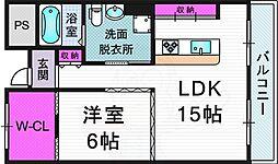 エトワール 7階1LDKの間取り