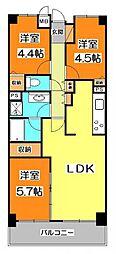 シーアイマンション清瀬[6階]の間取り