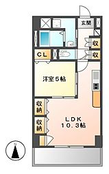 プレステージ新栄[8階]の間取り