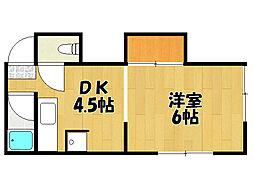 兵庫県明石市太寺3丁目の賃貸アパートの間取り