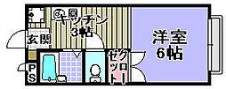 CREST−6[103号室]の間取り