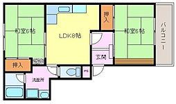 メゾンドールサンパート2[2階]の間取り