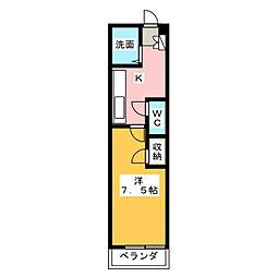 メゾン聖[1階]の間取り