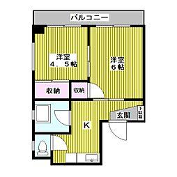 東京都板橋区西台1丁目の賃貸マンションの間取り