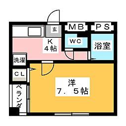 マウンテンハイツ浮野[3階]の間取り