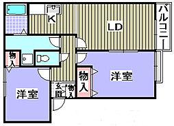 Villa Fiore3棟[102号室]の間取り