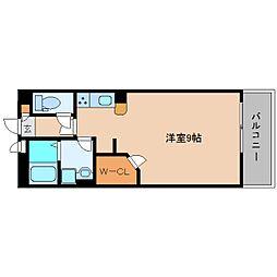 奈良県香芝市逢坂の賃貸マンションの間取り