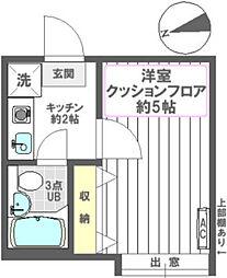 シャンブル一之江III[110号室]の間取り