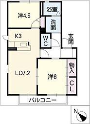 グランクール[2階]の間取り