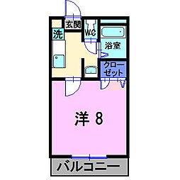 岡山県総社市溝口の賃貸マンションの間取り
