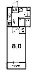 アークリード西陣[4階]の間取り
