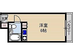 シャルム茨木[1階]の間取り
