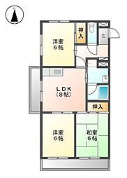 メゾンド徳川苑[3階]の間取り